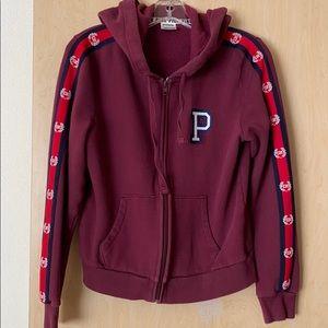 Pink Victoria Secret zip up hoodie